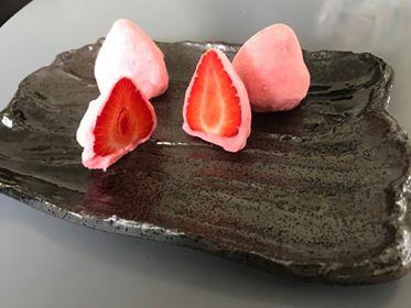 mochi med jordbær